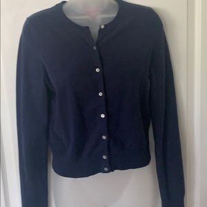 Lilly Pulitzer navy blue cardigan sweater size med
